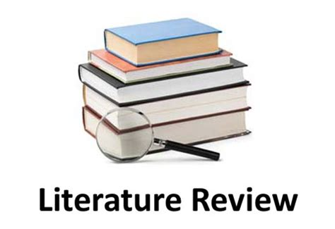 What is the objective of the review of literature in research